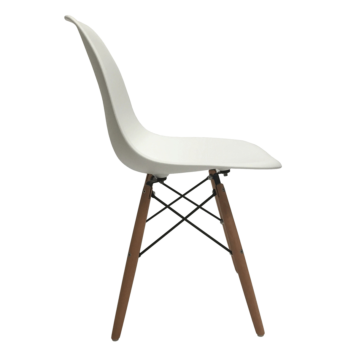 eames molded wood side chair lounge accent set of 2 dsw dining eiffel dowel leg
