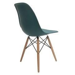 Turquoise Side Chair Posture With Arms 4 New Eames Style Dsw Wood Leg Dining