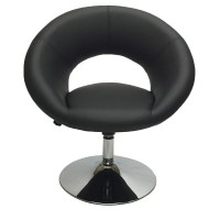 Home Decor Black Accent Chair Office Round Back Elegant ...