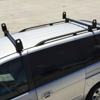 "2pc 60"" Universal Roof Mount Gutterless Van Ladder Rack"
