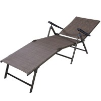 Patio Furniture Textilene Adjustable Pool Chaise Lounge ...