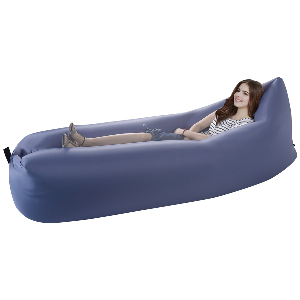 inflatable outdoor sofa chair nursery rocker lazy couch air sleeping lounger
