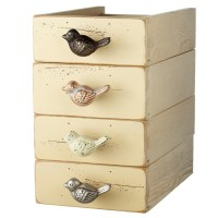 Birds Drawer Pulls Cabinet Knobs Set of 4 Painted and ...