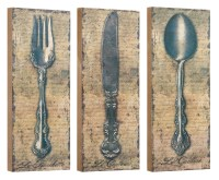 Vintage Silverware Fork Knife Spoon Wall Decor or Shelf 10 ...