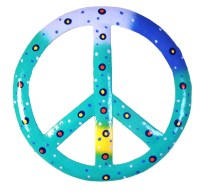 Tropical Ocean Blue Peace Sign 8 Inch Wall Decor Haitian ...