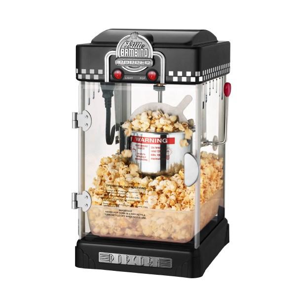 Little Bambino Retro 2.5 Oz Tabletop Kettle Popcorn Popper Machine-red Black