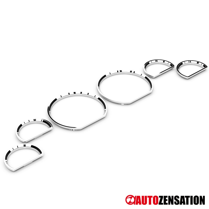 [6 pcs] 94-04 Ford Mustang Chrome Dashboard Cluster Gauge