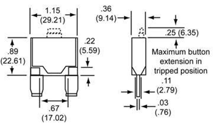 NEW OEM COOPER BUSSMAN CIRCUIT BREAKER FITS 0-12VDC 50A