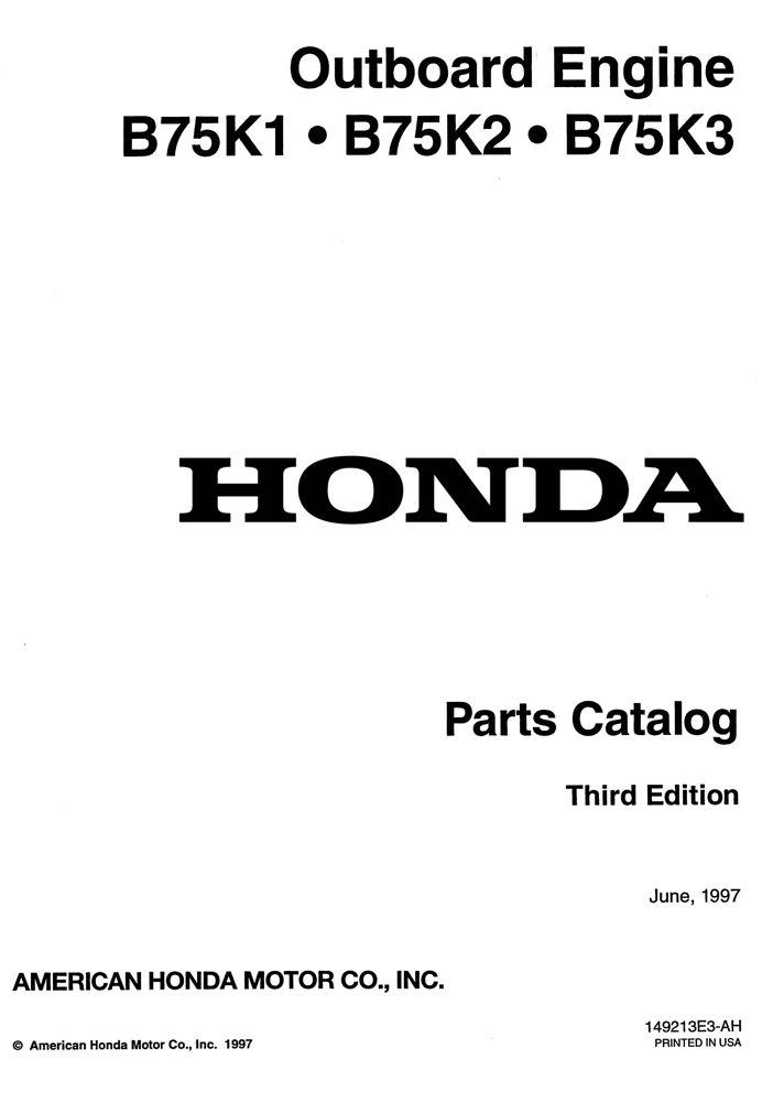 B75K1 B75K2 B73K3 Outboard Engine Parts Catalog