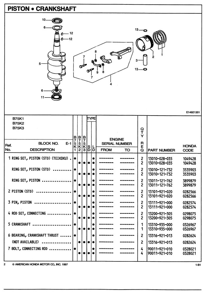 BF75 BF75Z BF100 BF100Z Outboard Engine Parts Catalog
