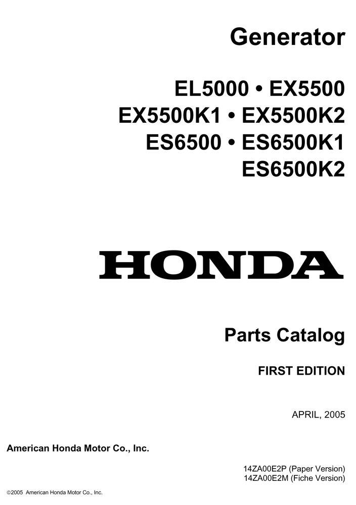 EL5000 ES6500 ES6500K1 ES6500K2 EX5500 EX5500K1 EX5500K2