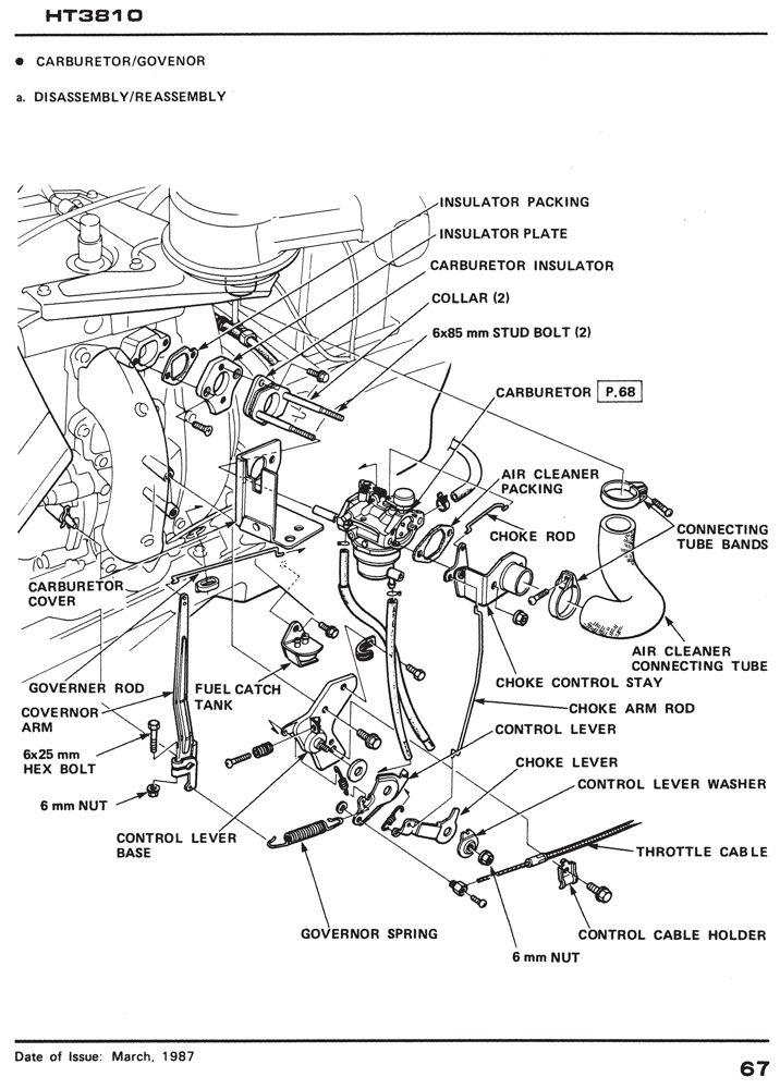 Honda HT3810 Lawn Tractor Shop Manual 6175002E2 Parts