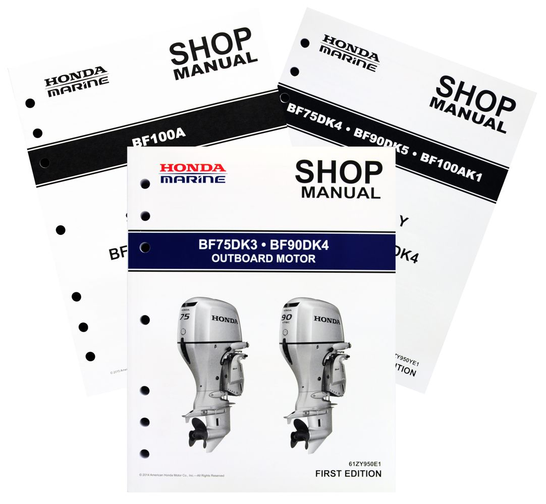 hight resolution of bf75d bf90d bf100a model marine outboard motor shop manual honda