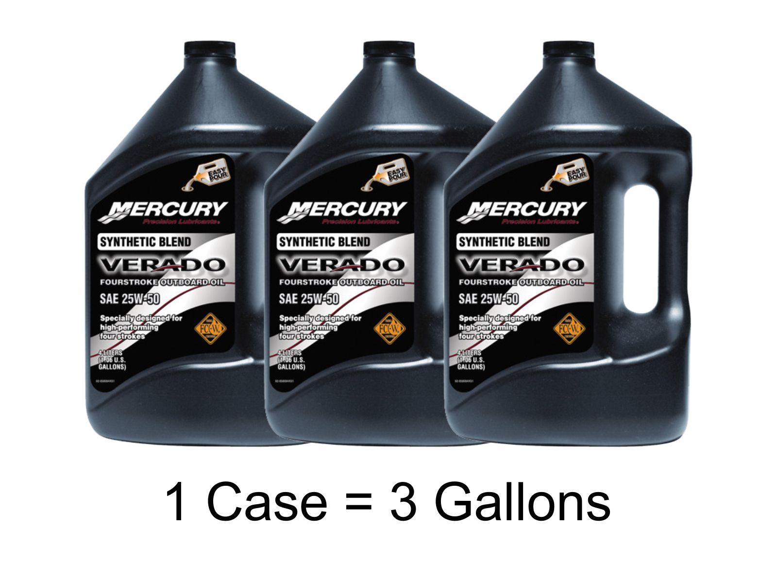 Mercury Verado Synthetic Blend Oil Case Of 3 Gallons