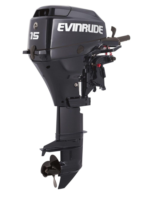 medium resolution of details about new evinrude 15hp 4 stroke outboard motor tiller 15 shaft engine