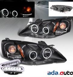 2005 2010 pontiac g6 ccfl halo projector headlights led fog lamps set [ 1200 x 1200 Pixel ]