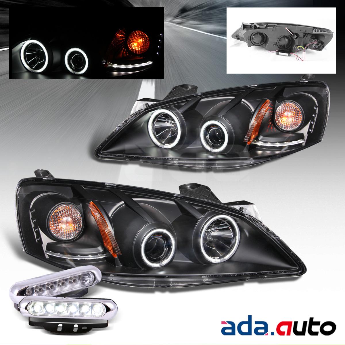 hight resolution of 2005 2010 pontiac g6 ccfl halo projector headlights led fog lamps set
