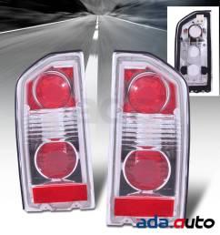 1988 1998 suzuki vitara sidekick geo tracker 2 4dr altezza red tail lights set [ 1200 x 1200 Pixel ]