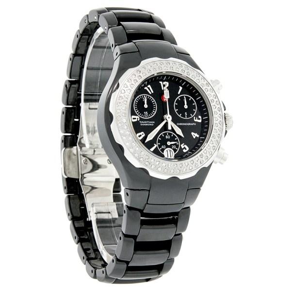 Black Michele Ceramic Diamond Watch