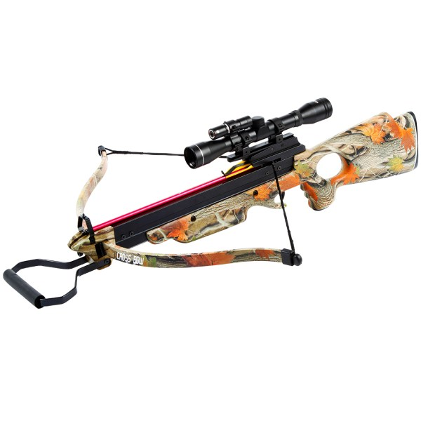 Lb Black Wood Camo Hunting Crossbow Bow 12 Arrows
