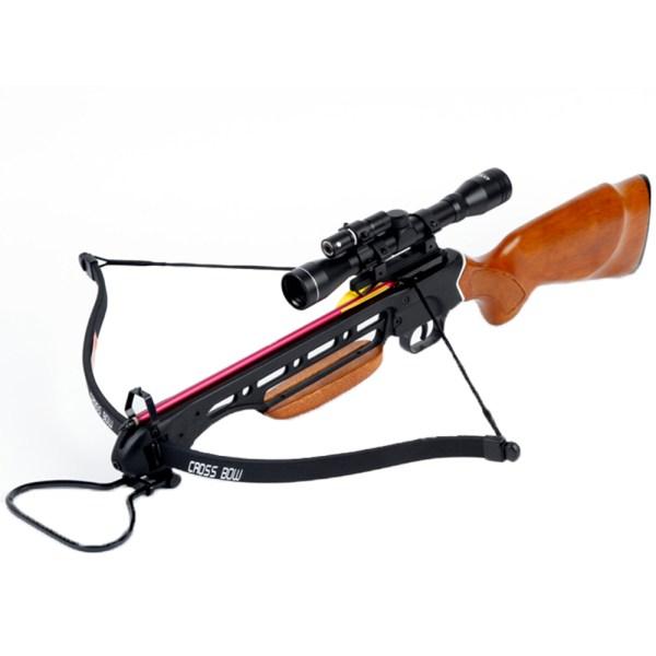 Lb Wood Hunting Crossbow Archery Bow 4x20 Scope 7