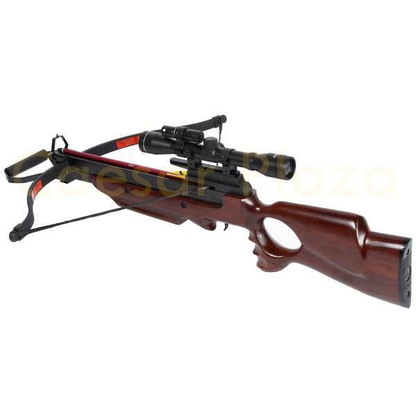 Lb Wood Hunting Crossbow Archery Bow 7 Arrows