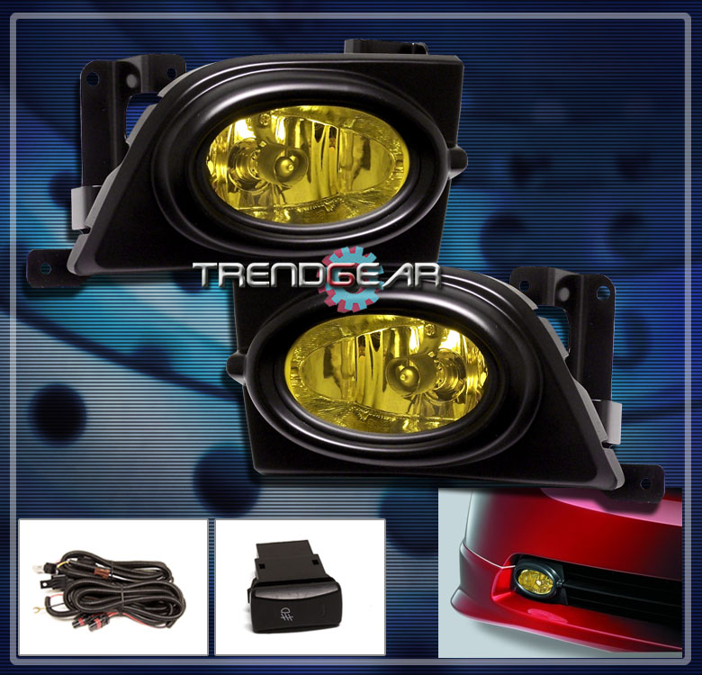 Honda Civic Lx Dx Ex Clear Lens Glass Fog Lights W Wiring Harness 96