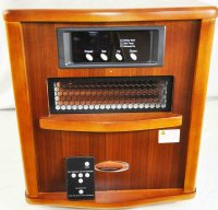 Comfort Furnace Electric Heater XL Infrared Walnut ...