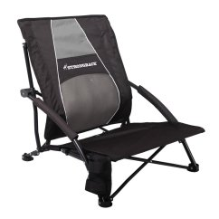 Most Comfortable Beach Chair Reclining Shampoo Strongback Low Gravity Lime Green And Grey