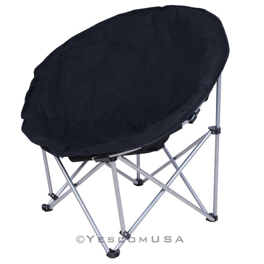 Microsuede Folding Padded Saucer Moon Chair Lagre