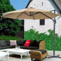 10' Cantilever Roma Offset Umbrella Patio Outdoor Hanging