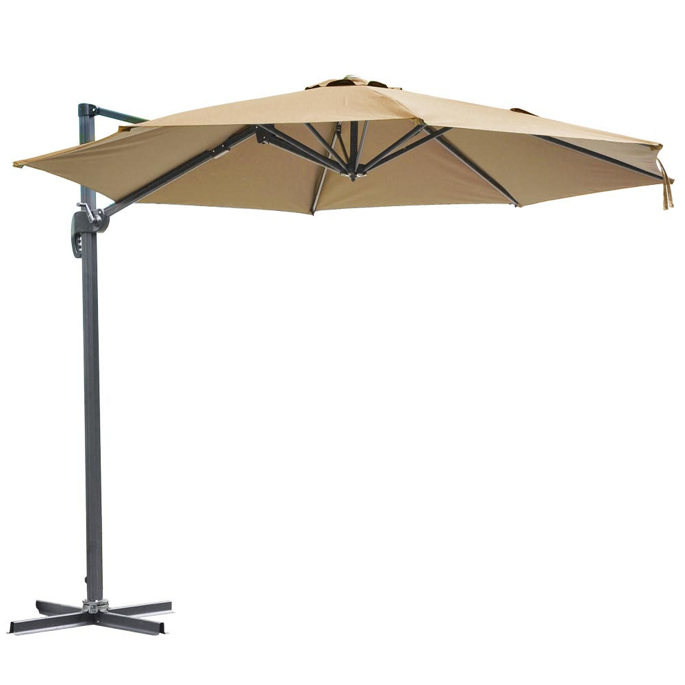10' Deluxe Patio Hanging Roma Offset Umbrella Outdoor