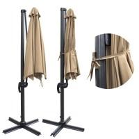 10' Deluxe Patio Hanging Roma Offset Umbrella Outdoor