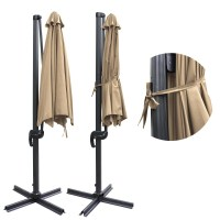 10' Deluxe Patio Hanging Roma Offset Umbrella Outdoor ...