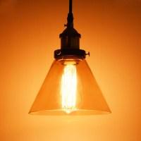 Vintage Industrial Primitive Glass Hanging Ceiling Lamp ...