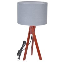 Modern Tripod Table Desk Floor Lamp Wood Wooden Stand Home ...