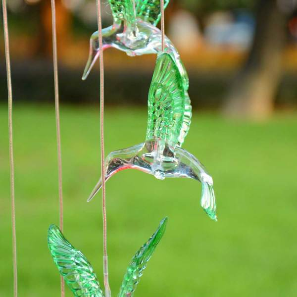 Solar Power Led Wind Chime Light Color Changing Home
