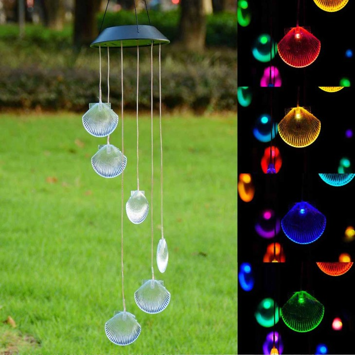 Solar Color Changing LED Shell Wind Chimes Home Garden Yard Decor Light Lamp  US 640671048323 | eBay