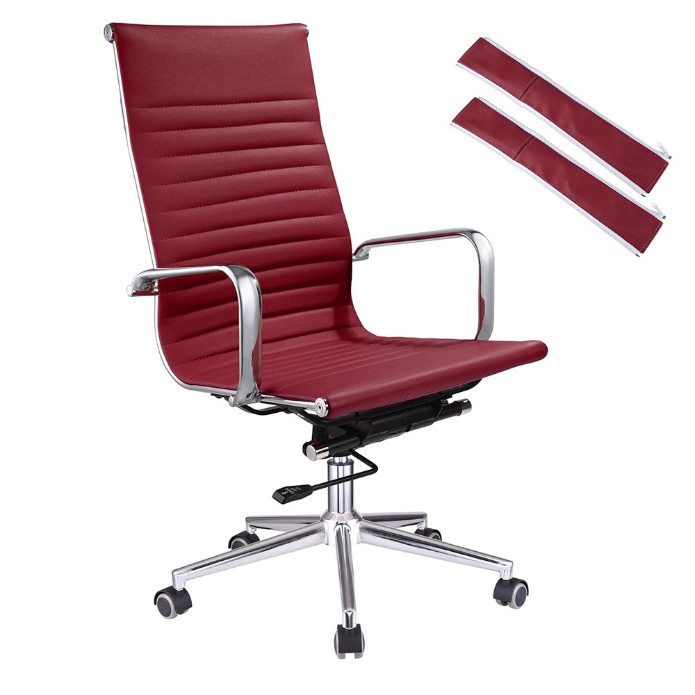 Red Desk Chair Details About Ergonomic High Back Pu Leather Office Chair Computer Desk Home Seat Colors Opt