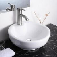 Aquaterior Porcelain Ceramic Bathroom Vessel Sink Basin w ...
