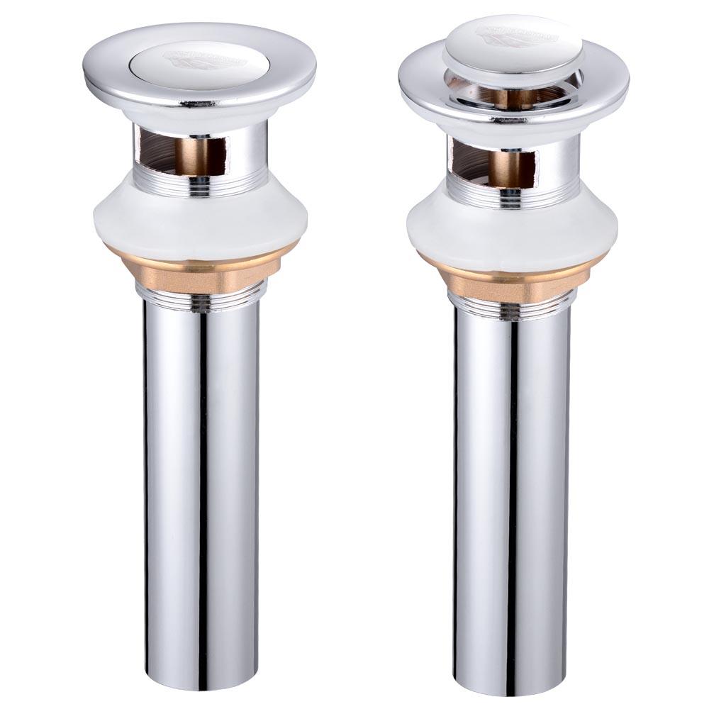 1 12 Bathroom Sink Overflow or NonOverflow Brass Pop Up