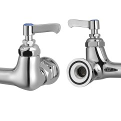Commercial Kitchen Faucets With Sprayer Ready Made Island For New Restaurant 8 Quot Center Splashmount