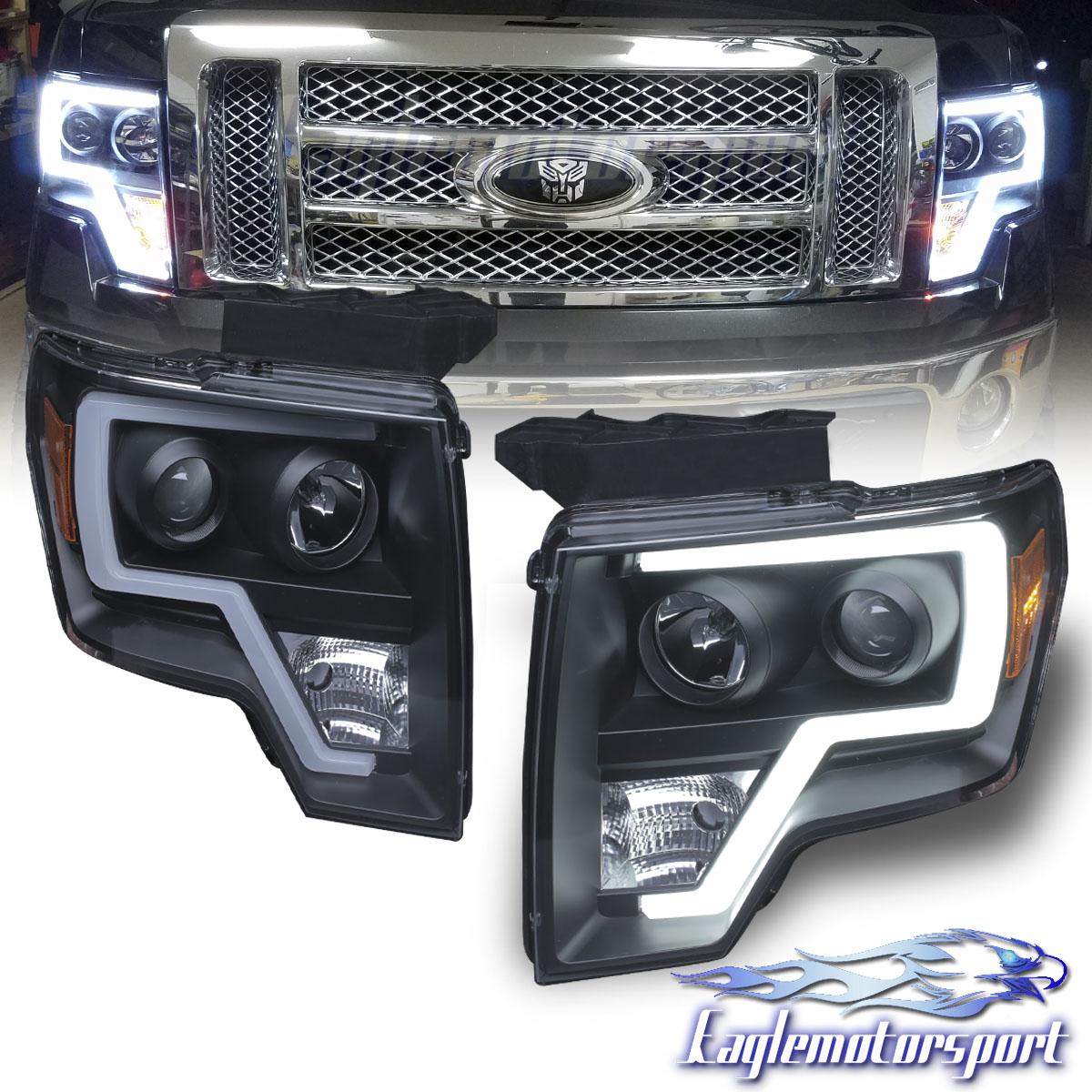 Ford Hid Headlights Wiring Diagram 2009 2014 Ford F 150 Pickup Truck Led Tube Bar Black