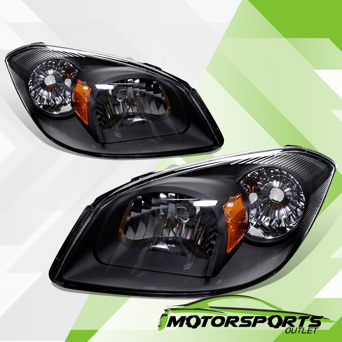 hight resolution of details about 2005 2010 chevy cobalt 07 09 pontiac g5 05 06 pursuit euro black headlights pair