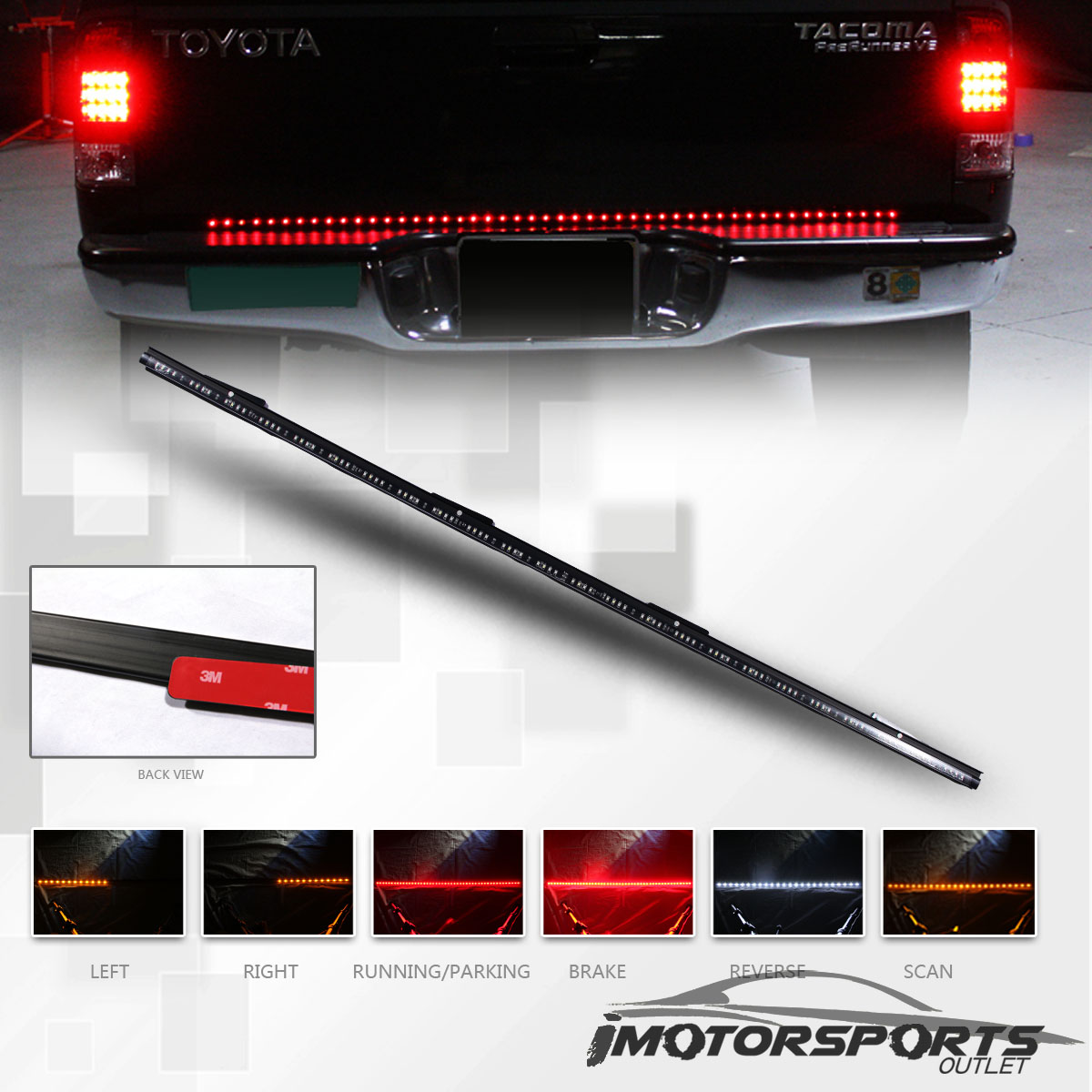 led tailgate bar 2003 toyota camry engine diagram 60 quot long sealed pickup truck light strip