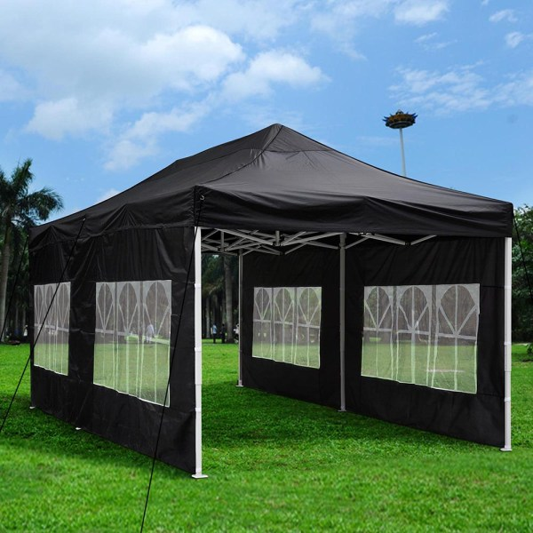 10'x20' Outdoor Patio Ez Pop Wedding Party Tent Canopy Withsidewall & Carry Bag