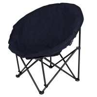 Microsuede Folding Padded Saucer Moon Chair Lagre ...