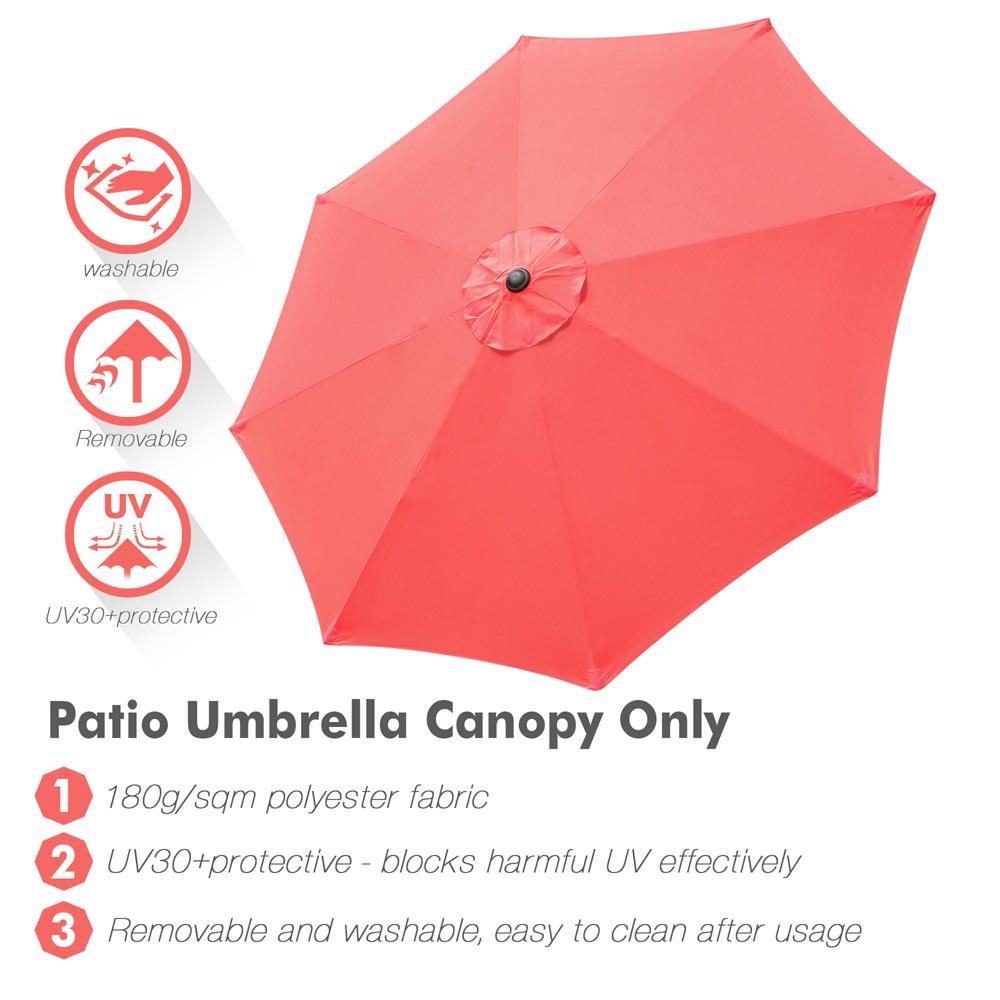 9ft patio umbrella canopy top cover