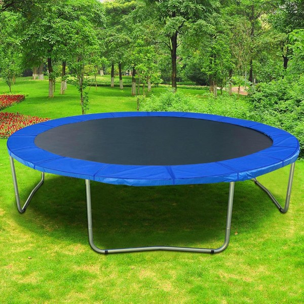 12' 13' 14' 15' Trampoline Safety Pad Replacement Frame Spring Blue Cover