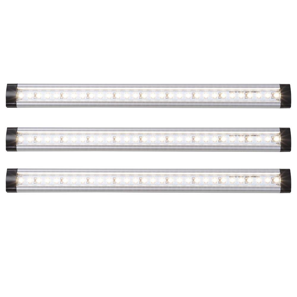 3pcs Kitchen Under Cabinet Shelf Counter LED Light Bar